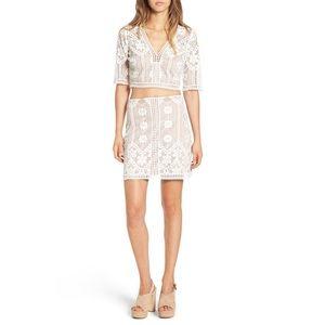 For Love & Lemons Florence Mini Skirt NWT